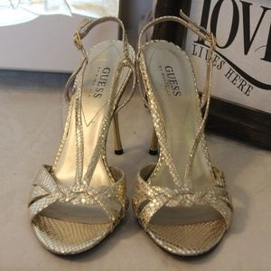 GUESS Metalic Gold Sling Pumps